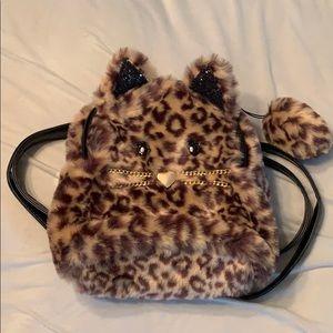 NWT Children's Place Faux Fur Leopard Backpack
